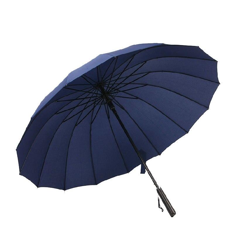 16 Bone Automatic Shang Wu San A Key Open Oversized Double Long Umbrella Currently Available Wholesale Customizable Do Logo Adve