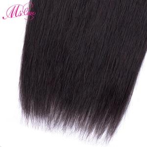 Image 5 - ストレート人間の髪のバンドル 100 グラム/ピースブラジル毛織りバンドル 100% 人毛エクステンション 24 26 28 30 非レミー ms 愛