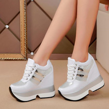 Mùa Thu Nền Tảng Nữ Giày Nữ Tăng Chiều Cao Nêm Nền Tảng Gót Giày Sneakers Nữ Giày Nữ Chaussure Femme W65