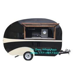 Mobilna koncesja ze stali nierdzewnej hamburger przyczepa kempingowa pojazd do serwowania żywności na sprzedaż w Roboty kuchenne od AGD na