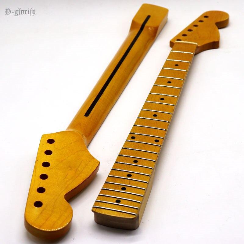 2020 High Gloss Yellow Full Canada Maple Russian Maple Big Head ST Guitar Neck