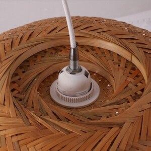 Image 5 - מודרני במבוק עבודת יד סרוג במבוק אריגת נברשת מסעדה בעבודת יד