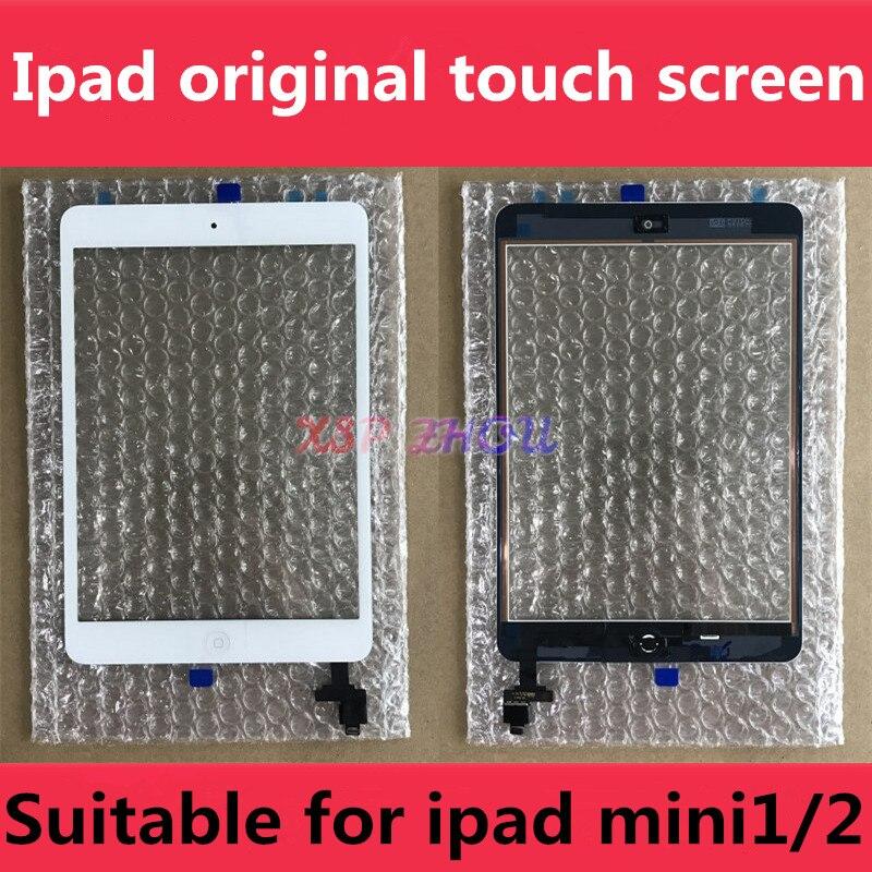 Оригинальный сенсорный экран для OEM iPad Mini 1, сенсорный экран для iPad Mini 2, A1432, A1454, A1455, A1489, A1490, A1491, кабель ИС с цифровым преобразователем, кнопка ...