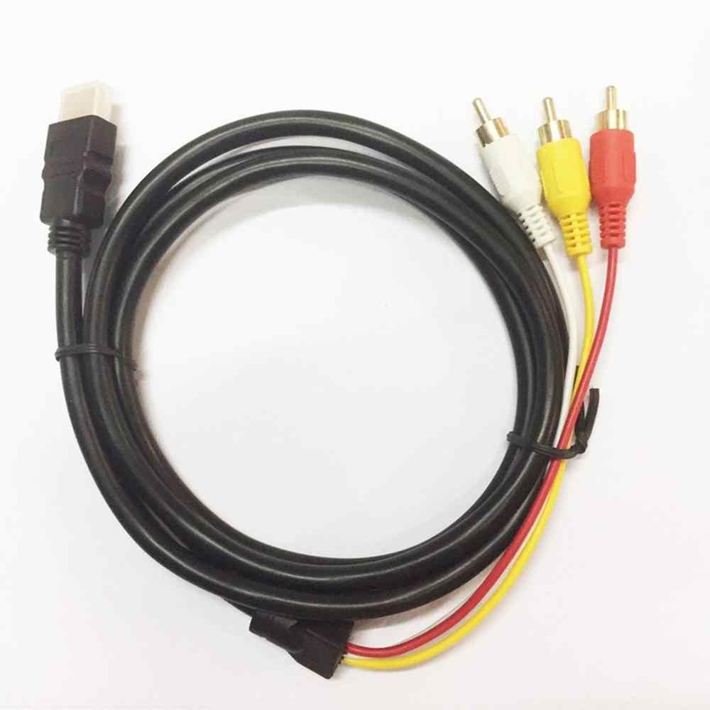 HDMI إلى 3RCA AV مركب M/M موصل كابل محول الارسال الصوت مرئيات عالية الجودة 12 سنتيمتر عالية السرعة ودائم