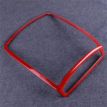 DWCX Car Styling Red Chrome Front Interior Reading Light Lamp Decor Cover Trim ABS Fit for Ford F150 2015 2016 2017 2018