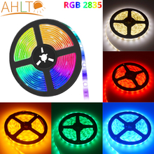 5M SMD RGB 2835 5050 300LED Strip Non Waterproof DC12V Ribbon Tape Brighter Room Lights Decor Cool Neon TV Home Holiday Lighting