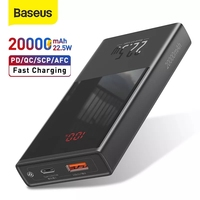 Baseus Mini Power Bank 20000mAh 22.5W caricabatterie esterno a ricarica rapida Display digitale PD QC Power Bank a ricarica rapida
