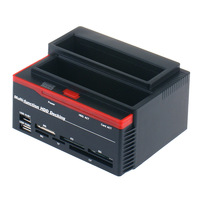 "SATA HDD Docking Station 2.5/3.5"" SATA IDE HDD Docking Station Clone USB 2.0 HUB support MS/M2/XD/CF/SD/TF Card Reader 480 Mbps