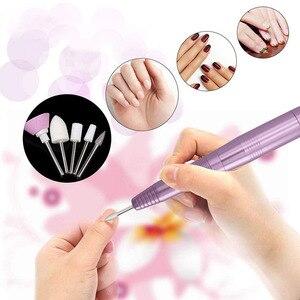 Image 5 - 1 zestaw elektryczna wiertarka do paznokci długopis maszyna do Manicure przenośny pilnik do paznokci wiertarko szlifierka Manicure narzędzia do Pedicure narzędzia do paznokci
