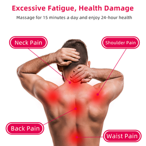 Image 4 - U צורת חשמלי צוואר רולר לעיסוי לגב צוואר כתף גוף הרפיה בריאות אינפרא אדום מחומם לישה עיסוי כרית
