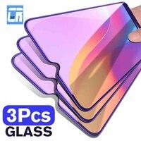 3 uds 2.5D Anti-Luz Azul de cristal templado para Xiaomi Redmi Nota 9S 8T 7 6 5 K20 K30 10 Pro 9A 8A 7A 6A Protector de pantalla Protector
