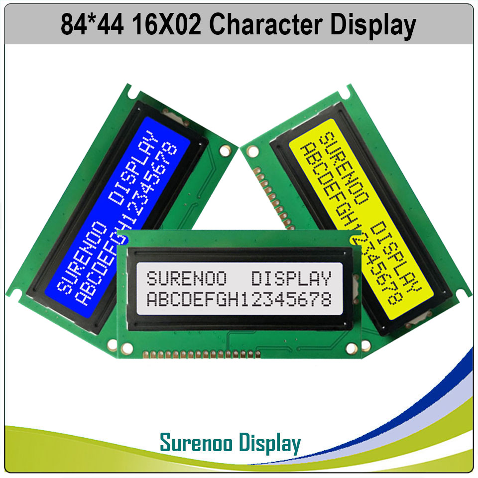 PCB Size: 84*44MM 162 1602 16X2 Character Blue LCD Module Display Screen LCM Bulid-in SPLC780D Wth Backlight