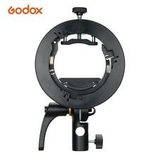 Godox S2 Flash S type Holder Speedlite Bracket Bowens Mount for Godox V1 V860II TT350 AD400Pro AD200Pro Speedlite Flash Beauty
