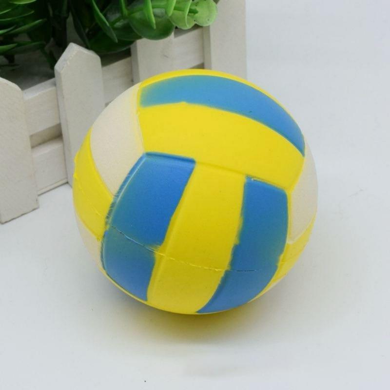 Fun Football Squishy Cute Anti-stress Volleyball Football Squeeze Slow Rising Kids Fun PU Ball Squishy Toys