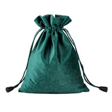 10x15/14x18/16x20/20x30cm Women Jewelry Flannel Drawstring Pouch Party and Wedding Gift Package Velvet Cosmetic Storage Dust Bag