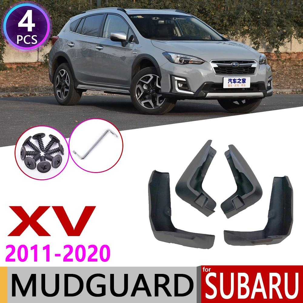 Otomobiller ve Motosikletler'ten Araba Çıkartmaları'de Çamurluk Subaru XV Crosstrek 2011 ~ 2020 çamurluk çamurluk Splash Flaps çamurluklar aksesuarları 2012 2013 2014 2015 2016 2018 2019 title=
