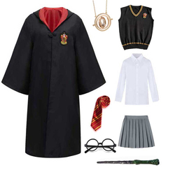Cosplay Costume Potter Haloween Costumes Magic Robe Cape Suit Tie Scarf Sweater Hermione Wand Glasses Potter Cosplay Accessories