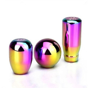 Neo Chrome Universal Speed Car Gear Shift Knob Manual Automatic Aluminum Alloy Racing Gear Shift Knob shift lever