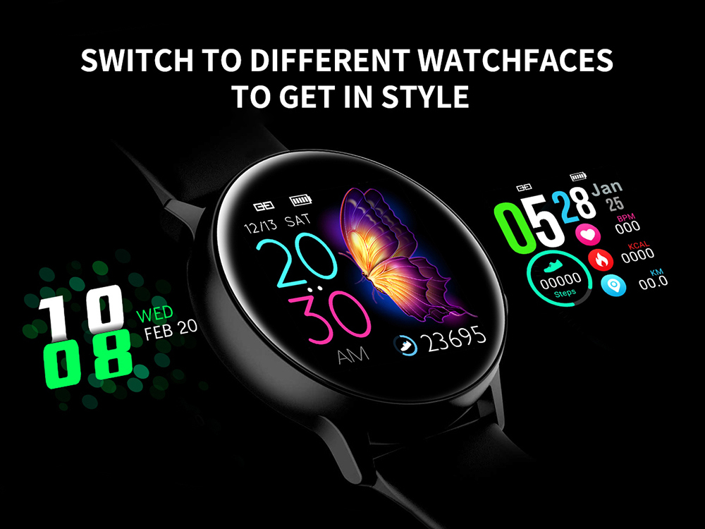 Women IP68 Waterproof Smart Watch for iPhone xiaomi LG with Bluetooth and Heart Rate Monitor Fitness Tracker 3