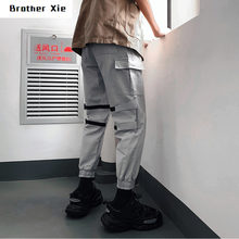 Werkkleding Broek Mannen Mode Effen Kleur Toevallige Multi-Pocket Overalls Man Streetwear Wilde Hip-Hop Losse Joggers Joggingbroek M-2XL(China)