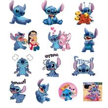 1PCS Monster Icon Applique Cute Stitch&Lilo Heat Sensitive Sticker Iron On Patch Thermal Transfer Printing Kid Apparel Decor DIY(China)