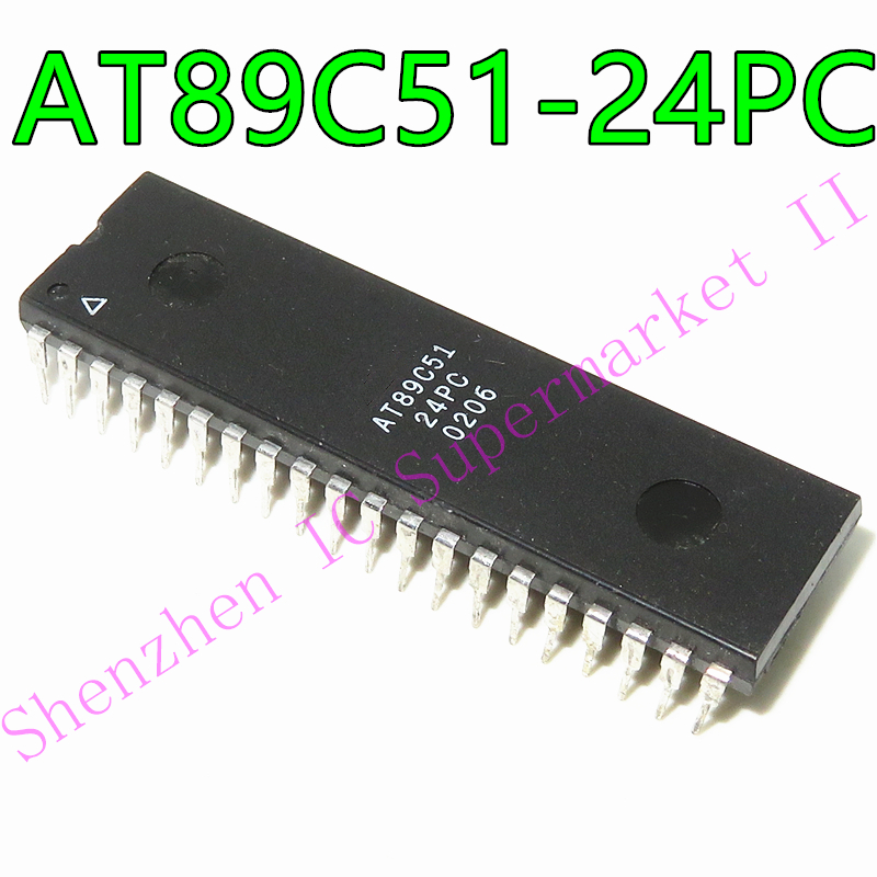 1pcs/lot AT89C51-24PC AT89C51-24PI AT89C51-24 AT89C51 DIP-40 In Stock