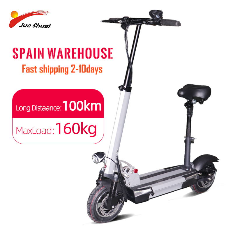 EU USA Warehouse 48v500w Electric Scooter 45km/h Fast Motor Over Than 100km Foldable Hoverboard Electric Kick Scooter With Seat