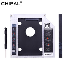 "Chipal universal sata 3.0 led 2nd hdd caddy 9.5mm 12.7mm para 2.5 ""2tb ssd caso disco rígido gabinete para portátil CD-ROM DVD-ROM(China)"