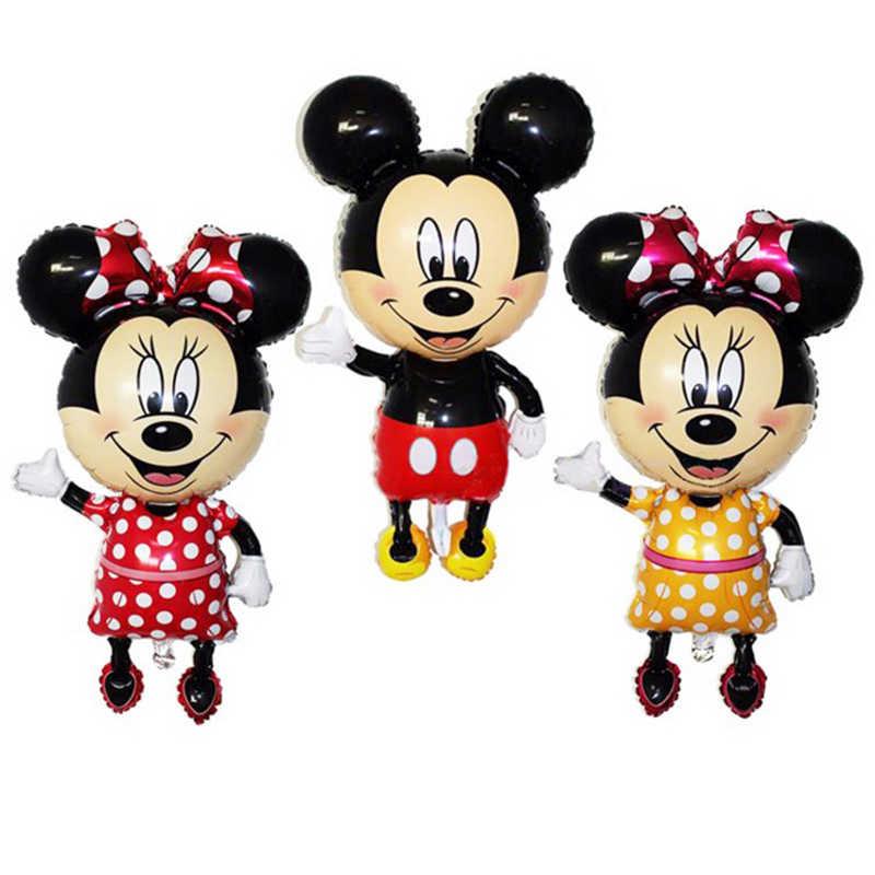 112Cm Cartoon Giant Mickey Minnie Folie Ballon Birthday Party Decorations Kids Baby Shower Party Ballonnen Klassieke Speelgoed