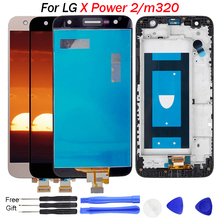 For LG X Power 2 Display Touch Screen Digitizer with Frame M320TV X500 K10 M320 M320F M320N Replacements m320 LCD