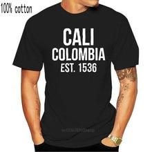 Футболка Cali Est 1536, футболка в стиле Колумбия, бренд, Летний стиль, хлопковая Мужская уникальная уличная одежда, футболка