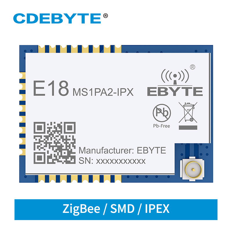CC2530 PA LNA ZigBee Module 2.4GHz 20dBm 8051 MCU SMD IPEX E18-MS1PA2-IPX Mesh Networking Transmitter And Receiver