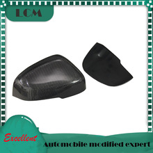 2011-2019 For-Volvo V40 V60 S60 Carbon Mirror Cover Add on or Replacement Style Carbon Fiber Rear View Mirror cover