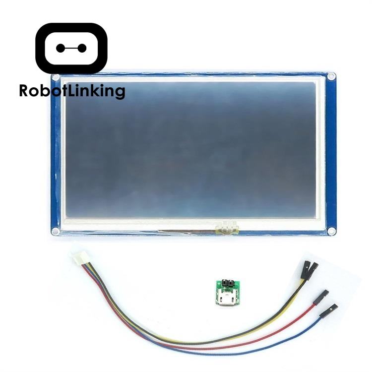 Nextion 7.0 Inch TFT Touch Screen 800 x 480 UART HMI Intelligent Smart LCD Module Display Panel For Raspberry Pi