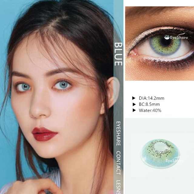 EYESHARE- 1 Pair  Bitas Ocean Color  Beautiful Pupil Contact Lenses Cosmetic Contact Lens Eye Color (2pcs) 5