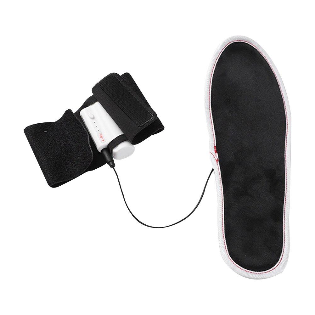 1 пара электрический подогрев стелька грелки для ног моющийся трехступенчатый температура контроль подогрев стельки