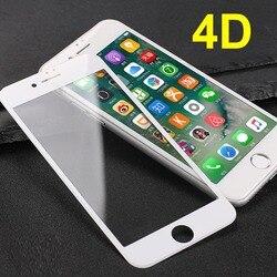 4D 9H pełne pokrycie szkło ochronne dla iPhone8 8S 8plus pokrycie ekranu szkło hartowane dla iPhone8S 8 folia zabezpieczająca ekran HD