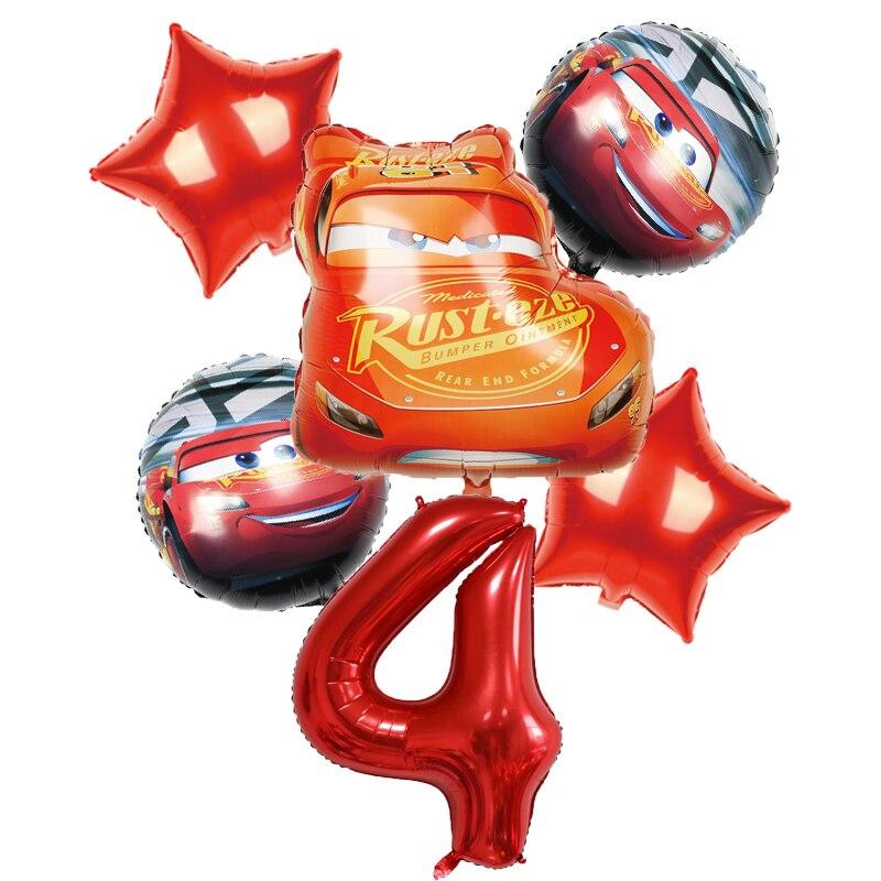 1 комплект с Микки-Маусом с машинкой Маккуин торт на день рождения для детей вечерние на день рождения украшения-латексные шары Детские игру...