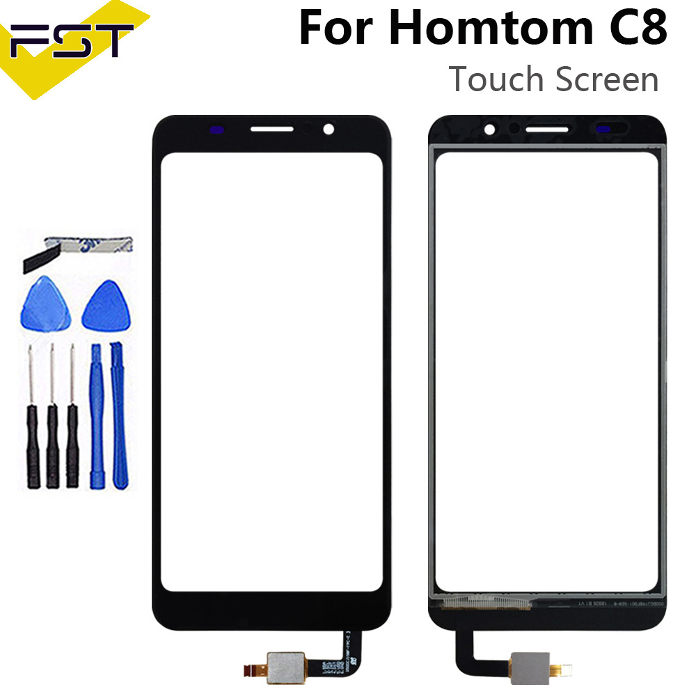 For <font><b>Homtom</b></font> <font><b>C8</b></font> Touch Screen Digitizer 5.5'' Replacement For <font><b>Homtom</b></font> <font><b>C8</b></font> Touch Panel Sensor Phone Accessories With Tools+Adhesive image