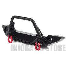 Schwarz Metall Frontschürze mit Abschlepp Haken für 1:10 RC Crawler Auto Axial SCX10 90046 SCX10 III AXI03007 Traxxas TRX 4