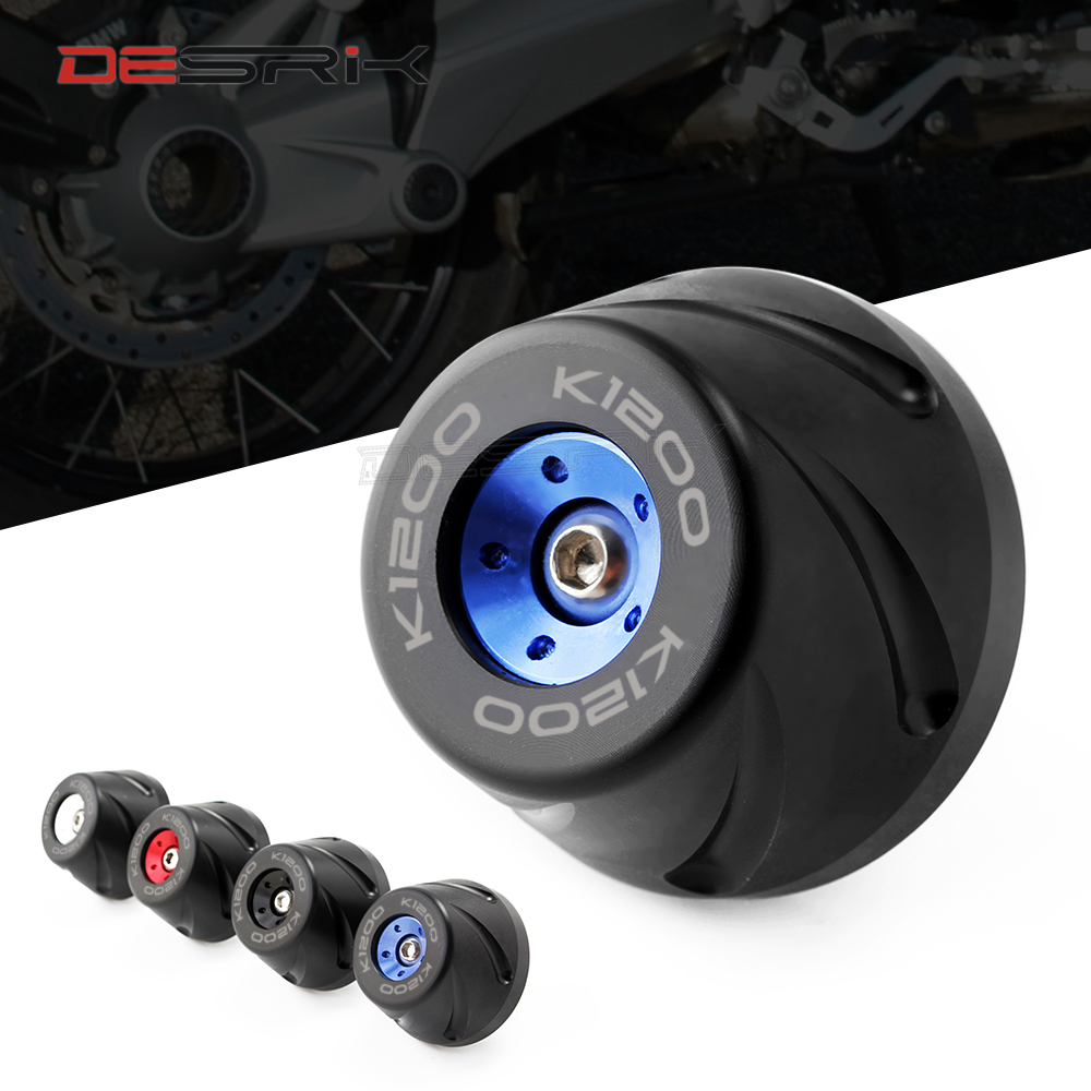 Motorcycle <font><b>Accessories</b></font> Final Drive Housing Cardan Crash Slider Protector For <font><b>BMW</b></font> K1200S K1200GT <font><b>K1200R</b></font>/SPORT With LOGO K1200 image