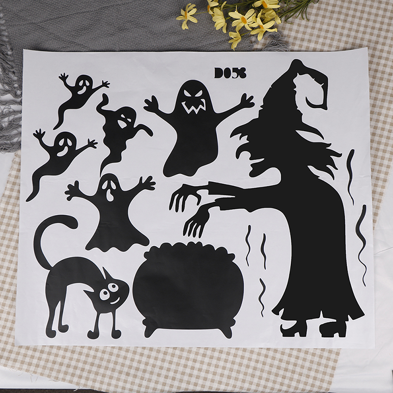 Horrible Monsters Ghosts Wall Sticker Removable Halloween Window Decorations Stickers For Rooms Scary Funny Wall Decals