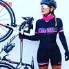 Cafete novo terno de ciclismo triathlon profissional das mulheres corrida equipe jérsei macacão manga longa apertado ciclismo terno 16