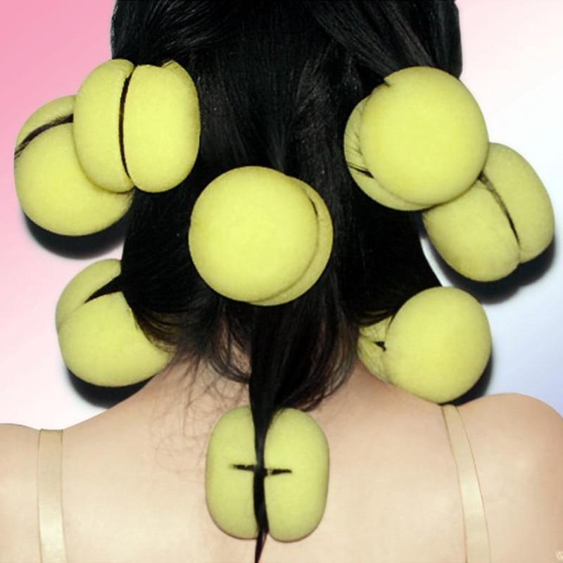 6 pièces bigoudis magiques bigoudis bigoudis doux éponge mousse balles rouleaux à friser soins des cheveux belle bricolage friser outils
