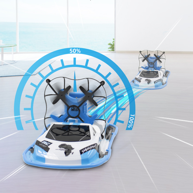 Quadrocopter Land-water control Vehicle