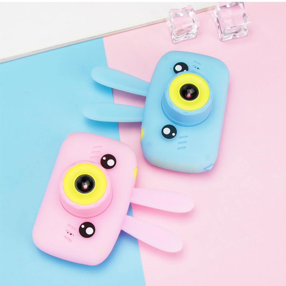 12MP Mini Children Camera Toys Digital Video Camera Model With Rabbit Pattern Silicone Case Christmas Gift