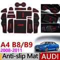 Противоскользящий резиновый коврик для дверей Audi A4 B8 2008-2015 8K A4 B9 2016-2019 8W SLine S-LINE S4 RS4 аксессуары наклейки