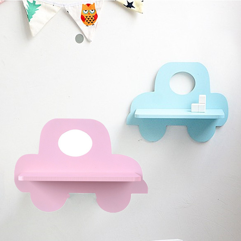 30cm Wall Shelf  Baby Carriage Wood Hanging Holder for Kids Room Shelf Baby Shower Room Accessories Decorative Shelve AP206