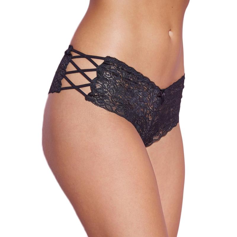 Comeondear Schwarz / Rot / Weiß Spitze Höschen Slips Plus Size XL-3XL Sexy Frauen Unterwäsche Bandage Tanga Femme Sexy Höschen PW5124