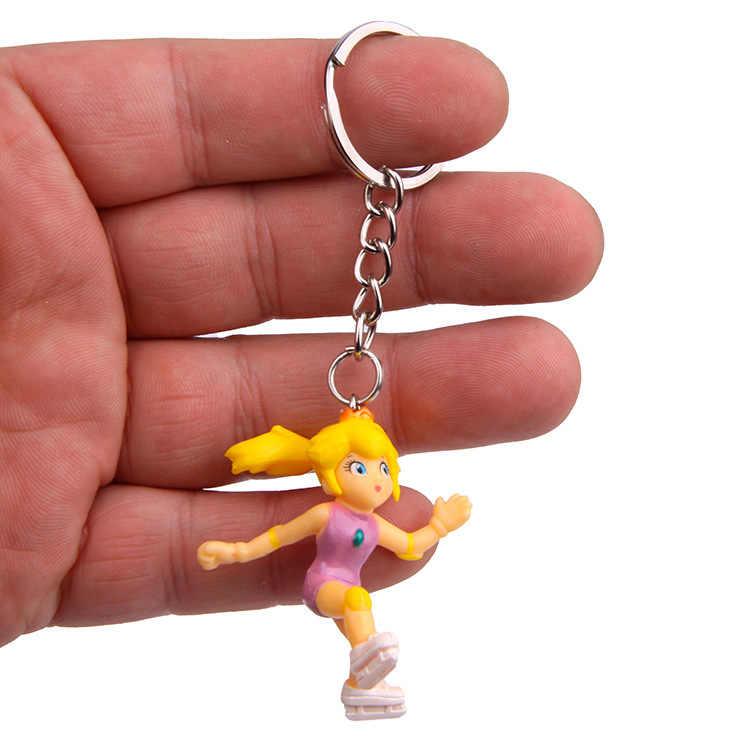 סופר מריו צעצועי דמות אנימה לואיג 'י יושי אפרסק Goomba מלך קונג Keychain חג המולד ילדים צעצועי בית המפלגה אספקת דקו מיקרו צעצועים